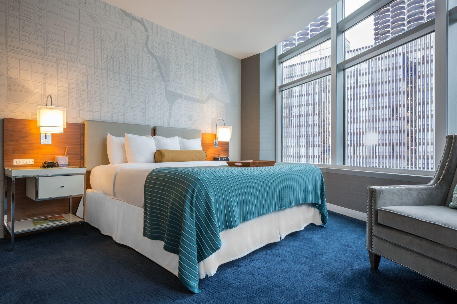 King Suite Bedroom with City Views