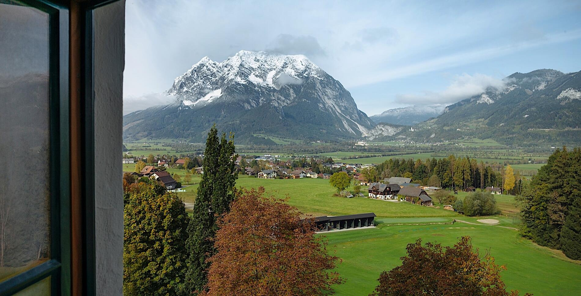 View from Romantik Hotel Schloss Pichlarn, Austria