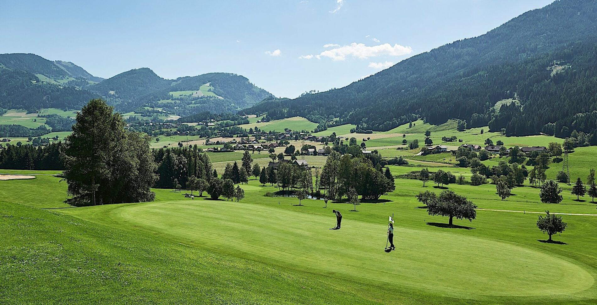 Golf course at Romantik Hotel Schloss Pichlarn, Austria