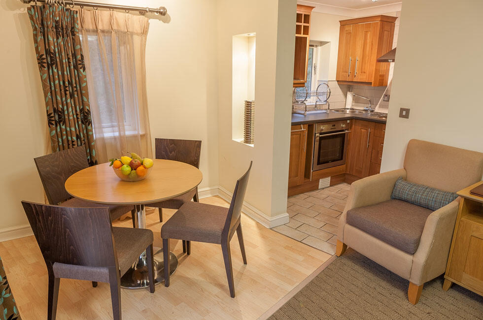 Woodford Bridge Country Club One Bedroom Lodge Dining Room