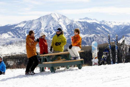 People on ski slope