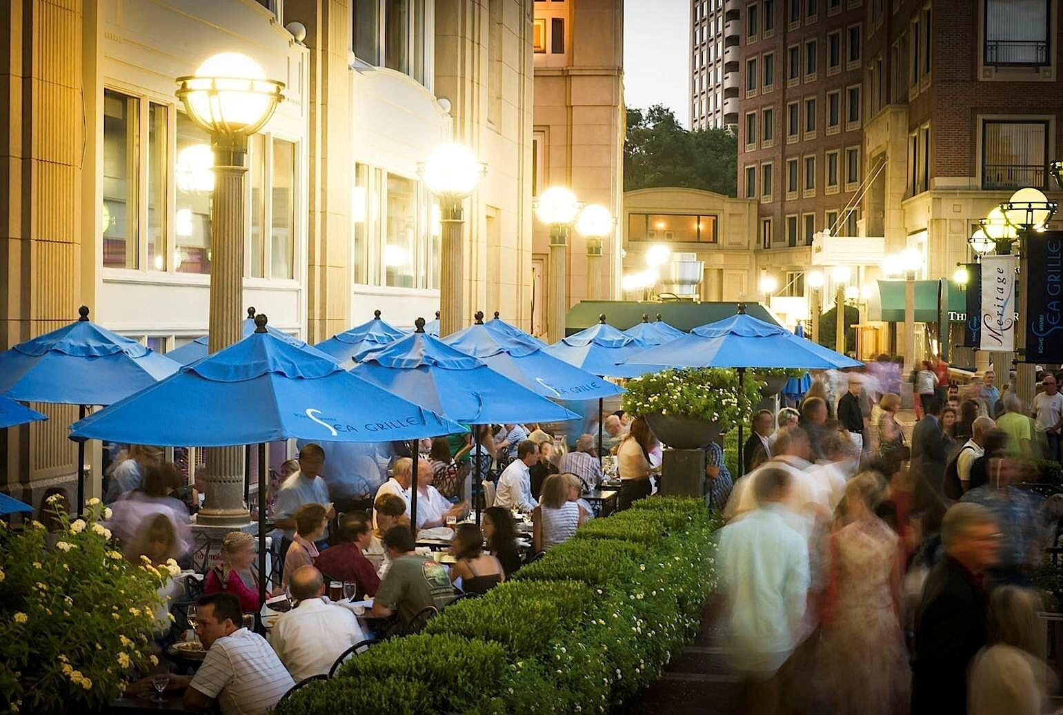 Photo of the Rowes Wharf Sea Grille terrace