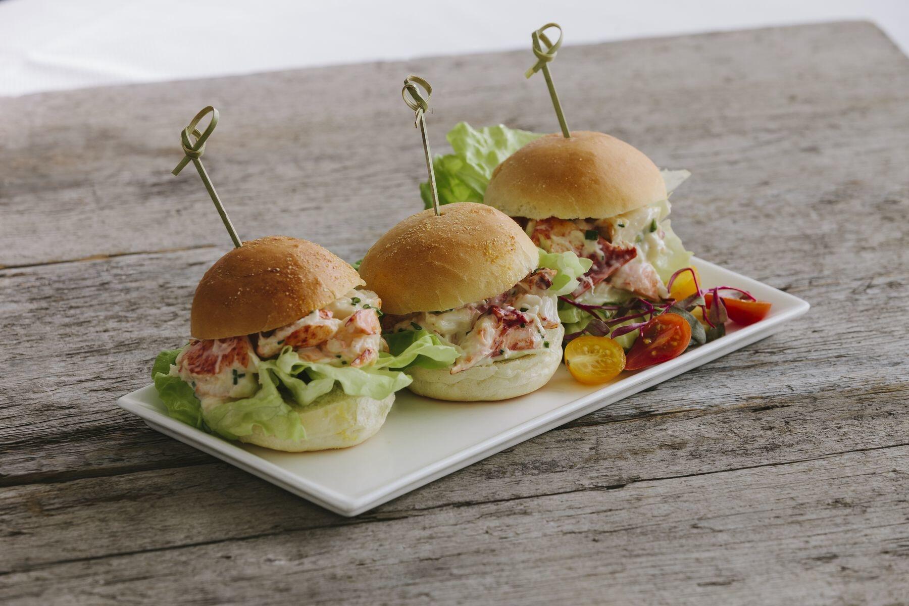 Trio of lobster sliders