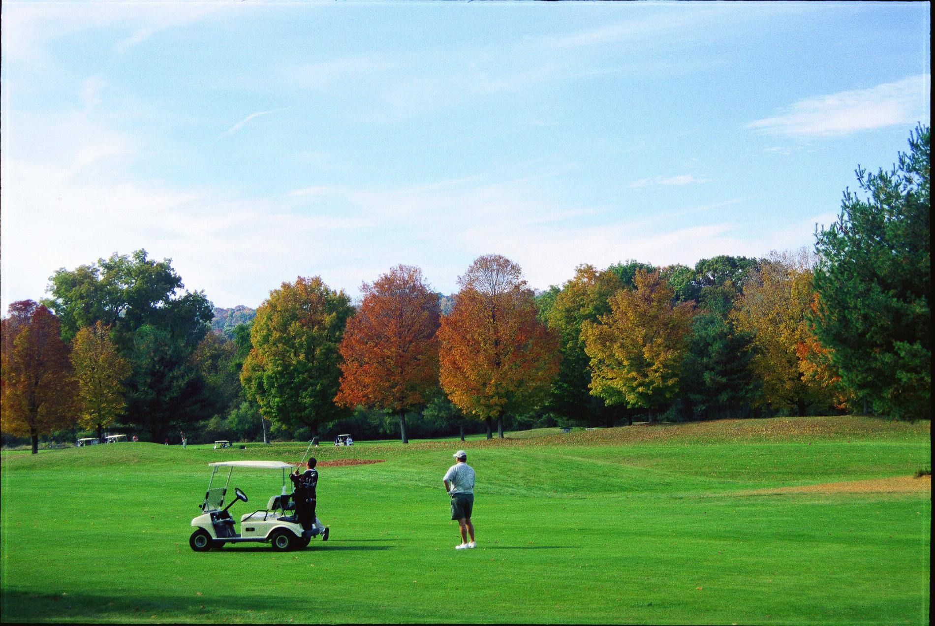 Gentleman playing golf at Pomperaug Golf Club