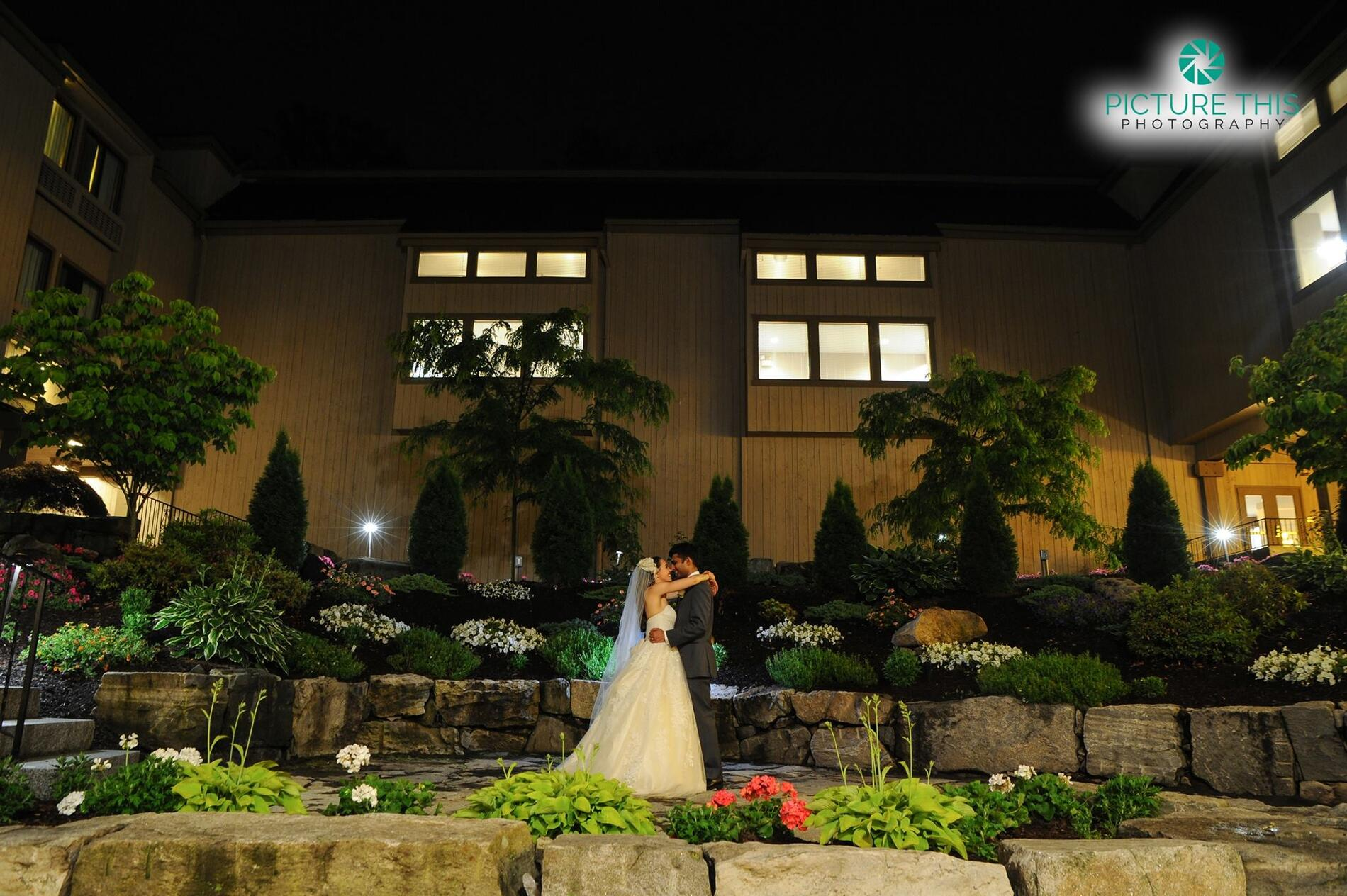 Wedding in a stone garden