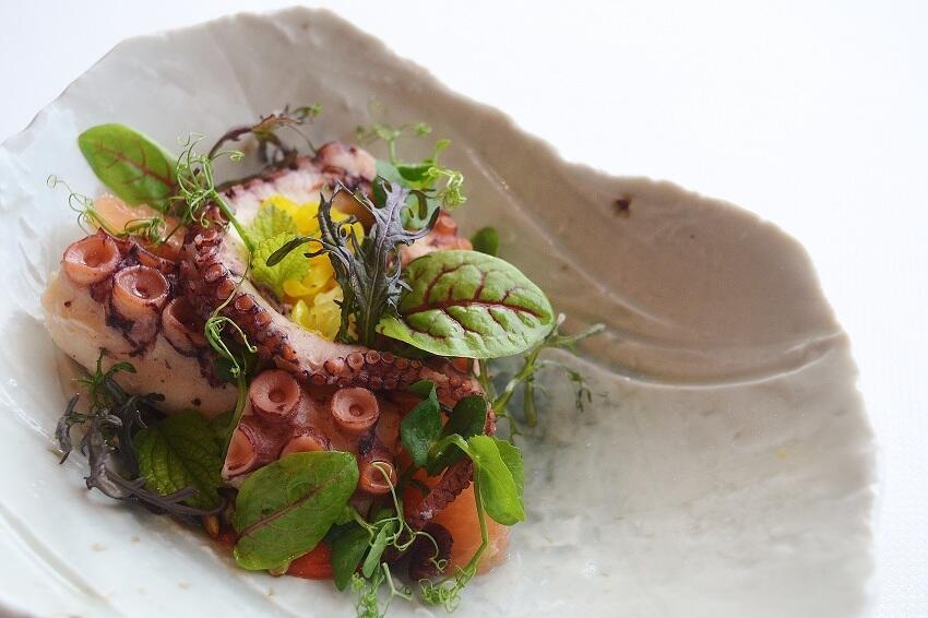 Delicate octopus dish