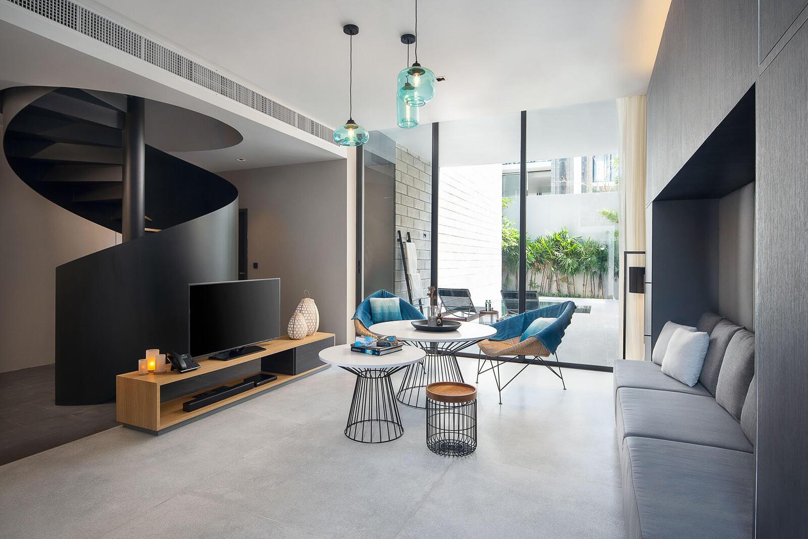 X2 Pattaya Oceanphere 2 Bedroom Villa - Spacious Living Room