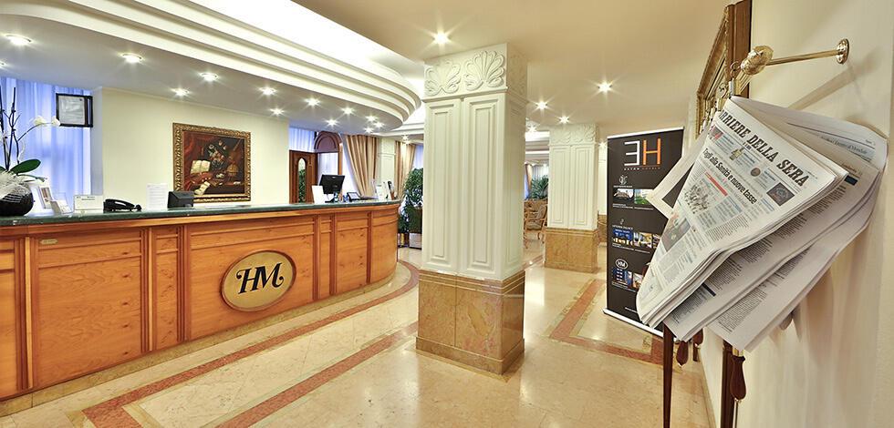 Reception at Hotel Mozart in Milan
