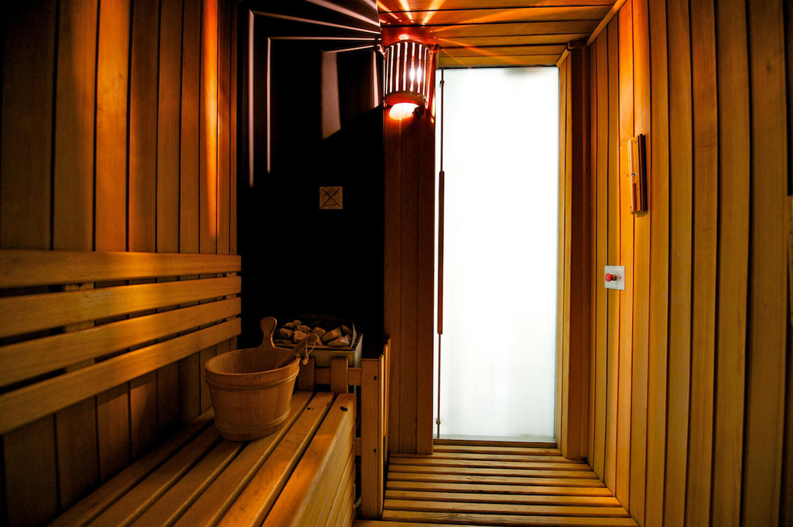 Sauna at Grand Visconti Palace in Milan