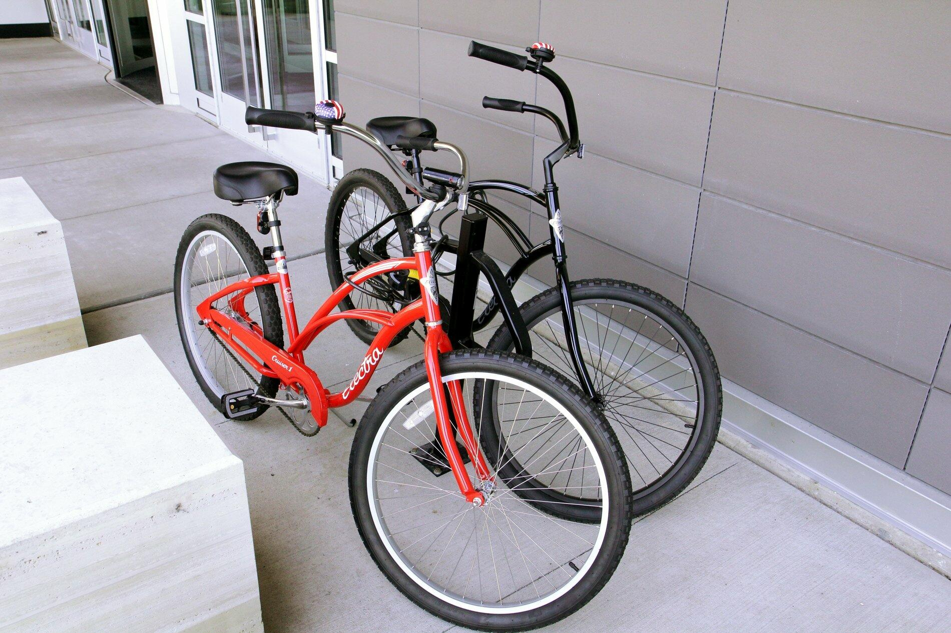 A pair of bicycles