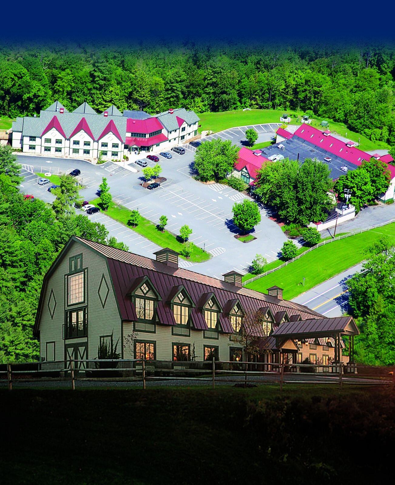 Exterior view of the property with aerial photo superimposed in