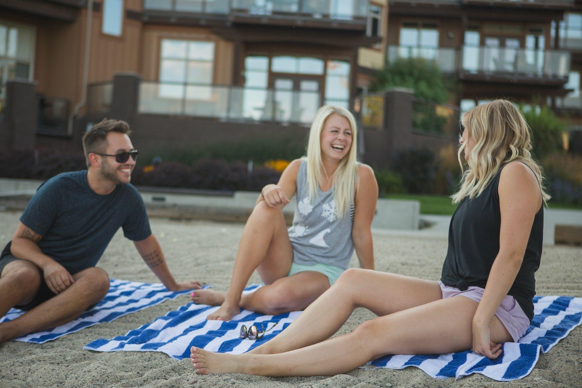 Friends at Cove Beach