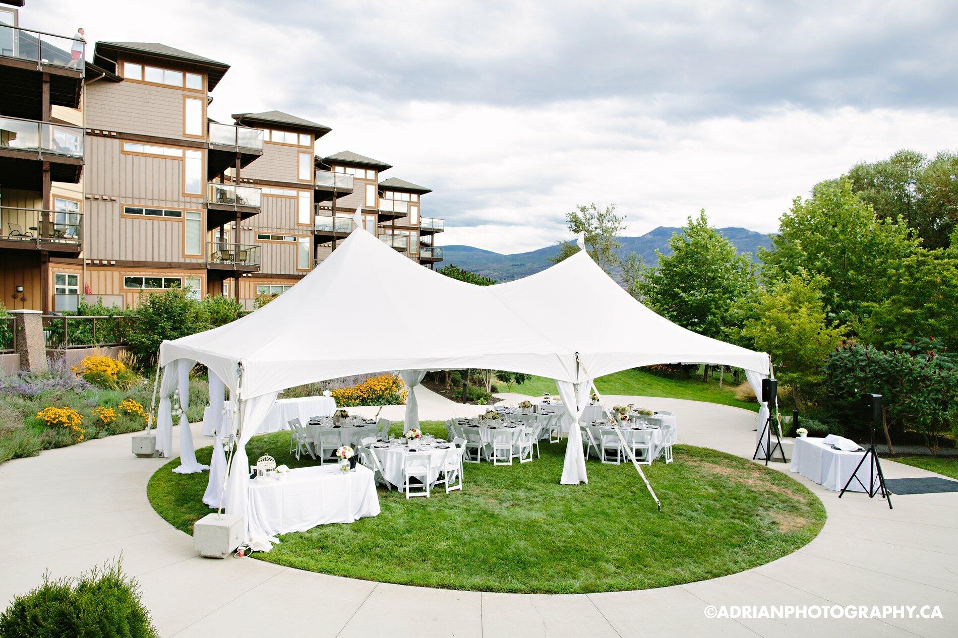 Tent Setup Gellatly Gardens Wedding