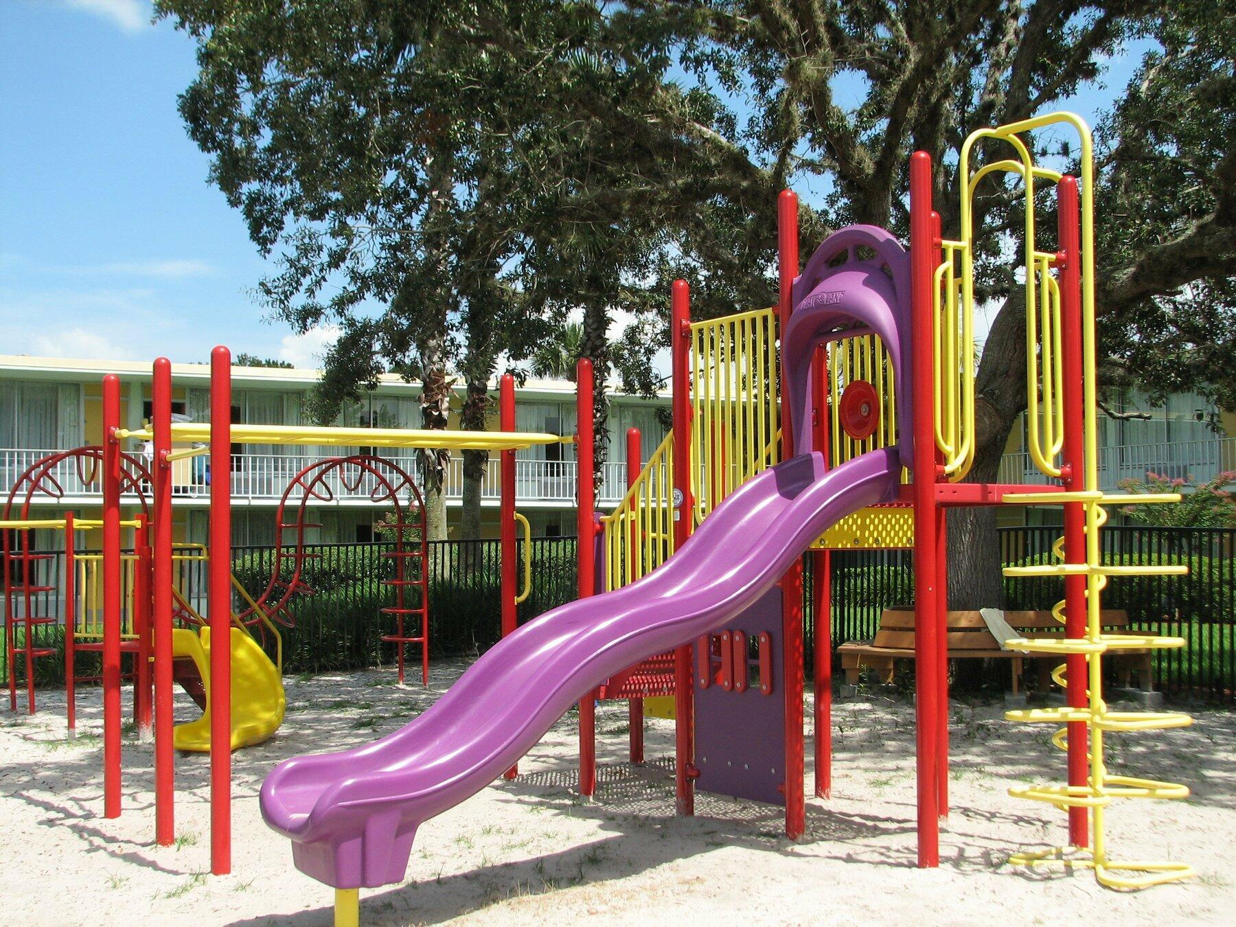 Brightly colored playground
