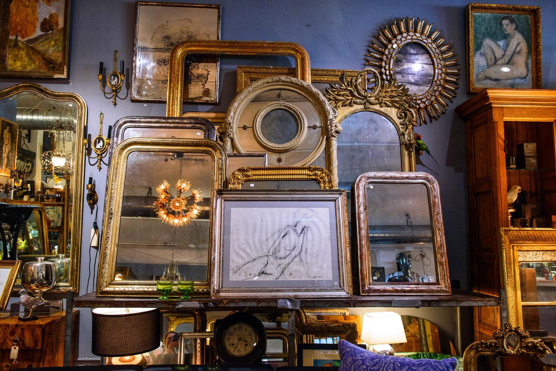 antiques in a shop