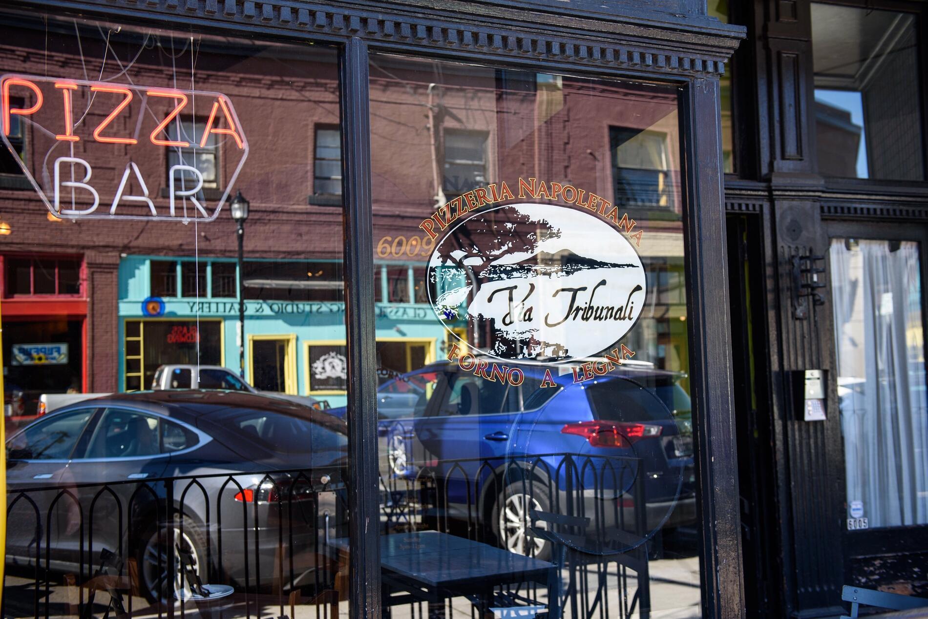 pizza shop store front