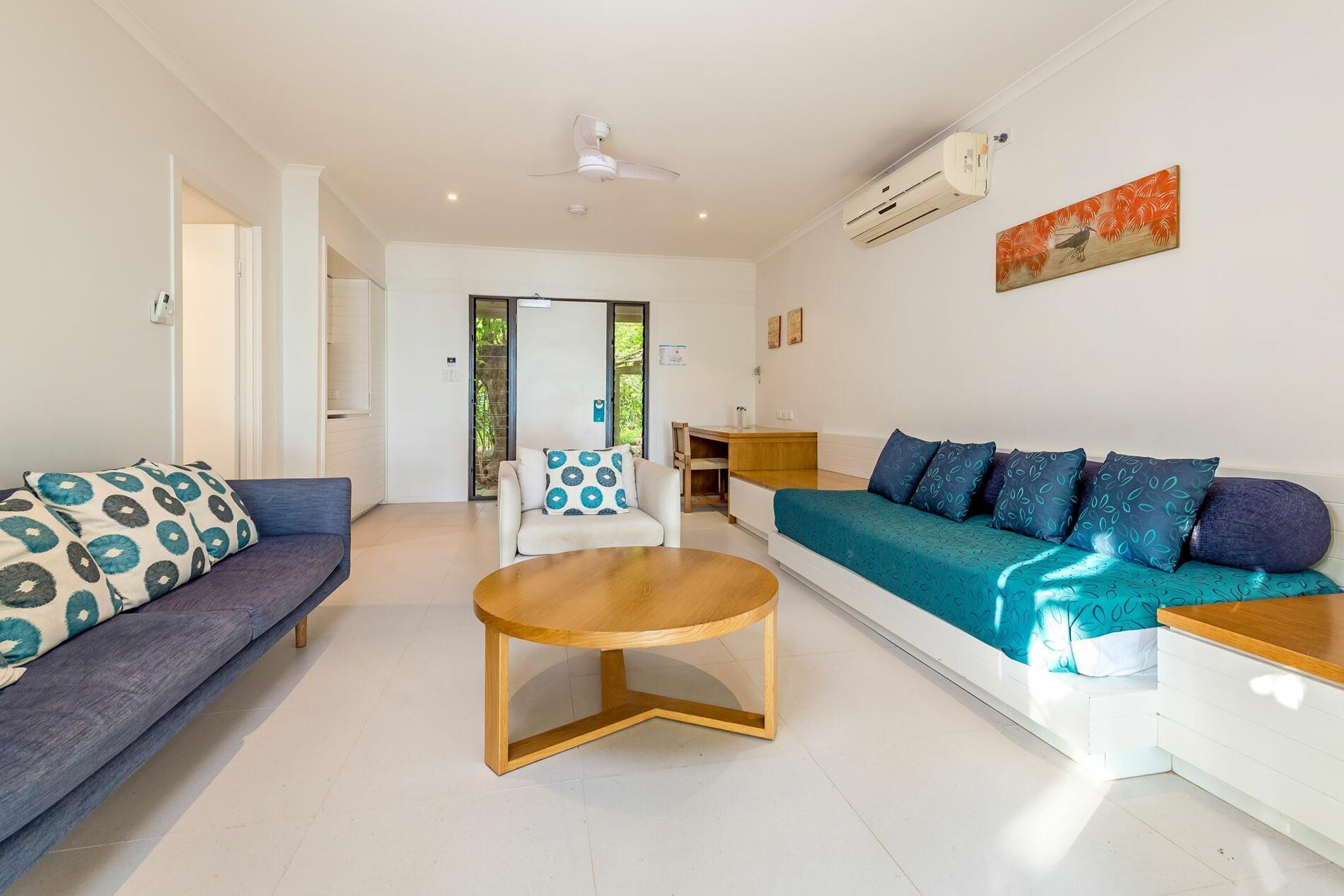 living room area at Beach House Heron Island Resort