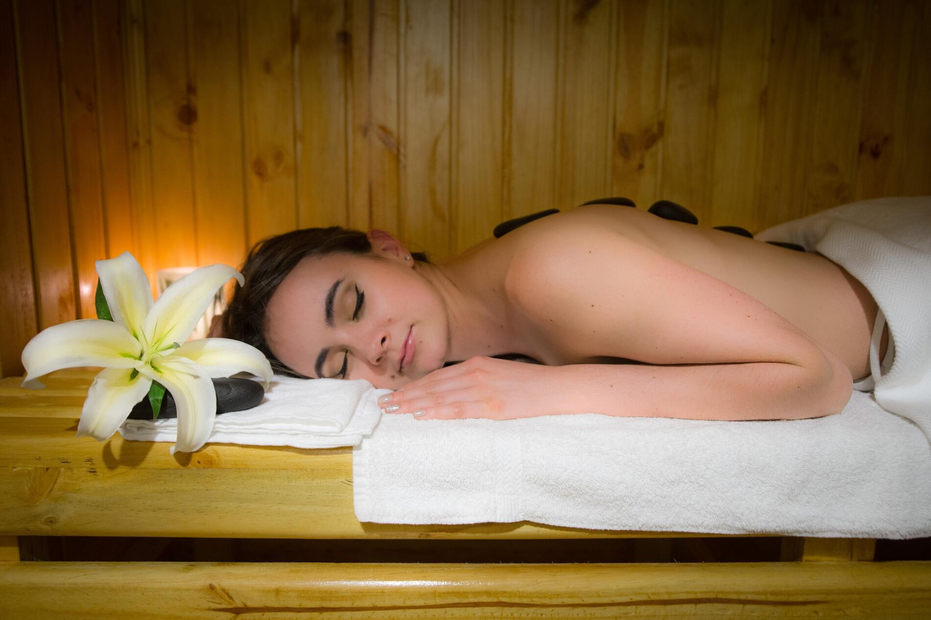Woman Relaxing before Massage