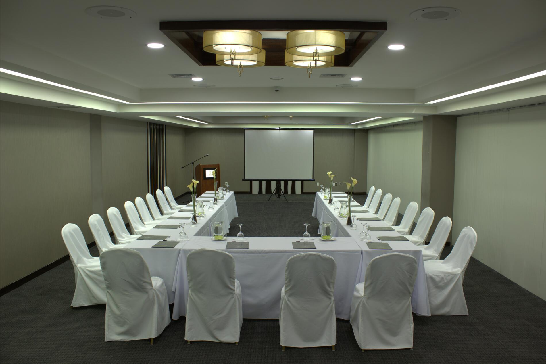 Meeting Room Set up in U Shape