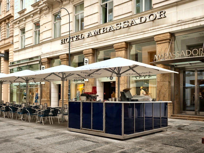 Terrace at Ambassador Hotel in Vienna