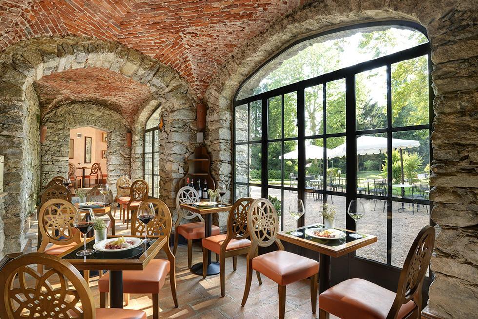 Lounge at Castello dal Pozzo in Oleggio Castello, Italy