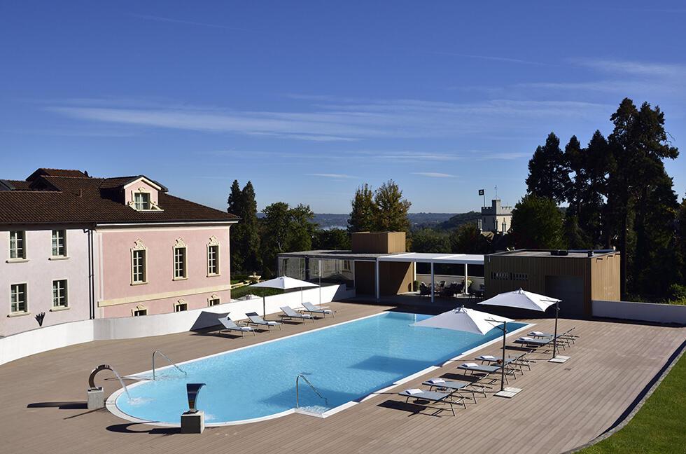 Pool at Castello dal Pozzo in Oleggio Castello, Italy