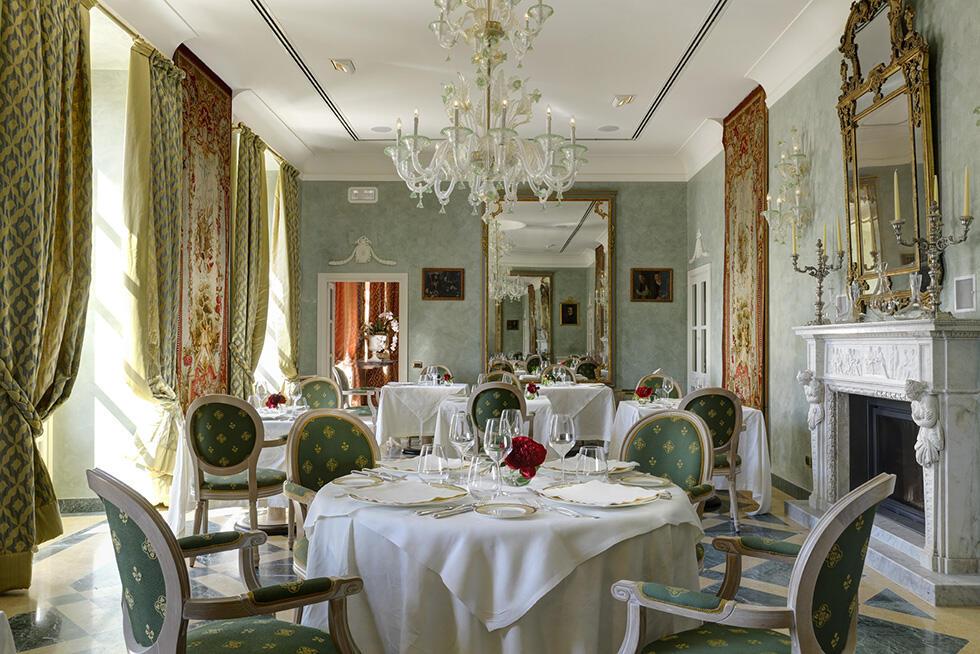 Restaurant at Castello dal Pozzo in Oleggio Castello, Italy