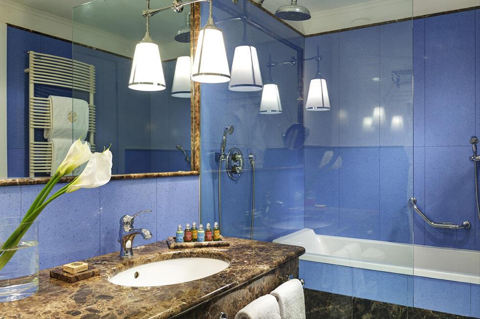 Bathroom at Castello dal Pozzo in Oleggio Castello, Italy