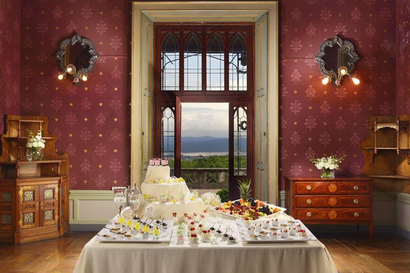 Desserts at Castello dal Pozzo in Oleggio Castello, Italy