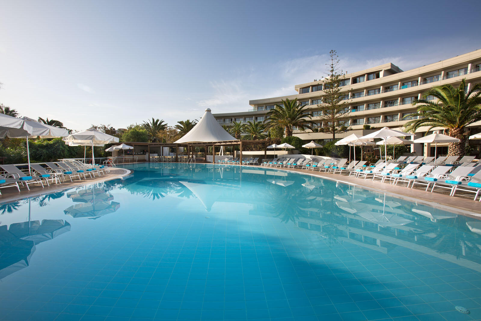 Main pool at Agapi Beach Resort in Crete