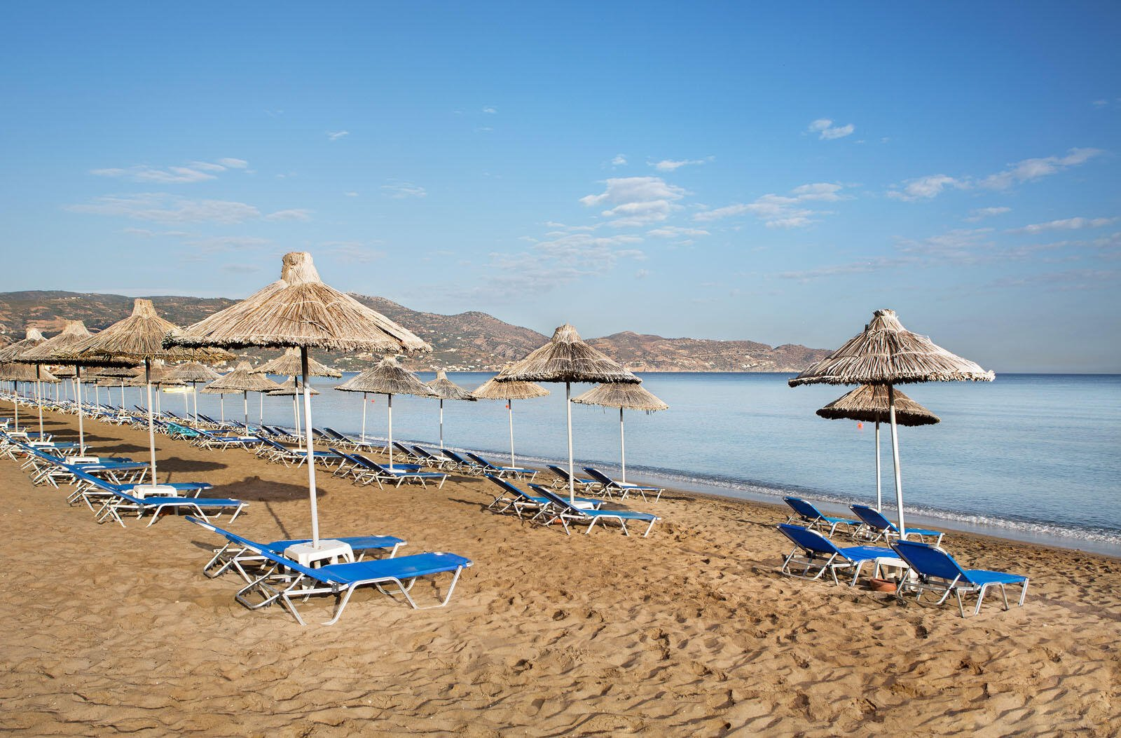 Private beach near Agapi Beach Resort in Crete