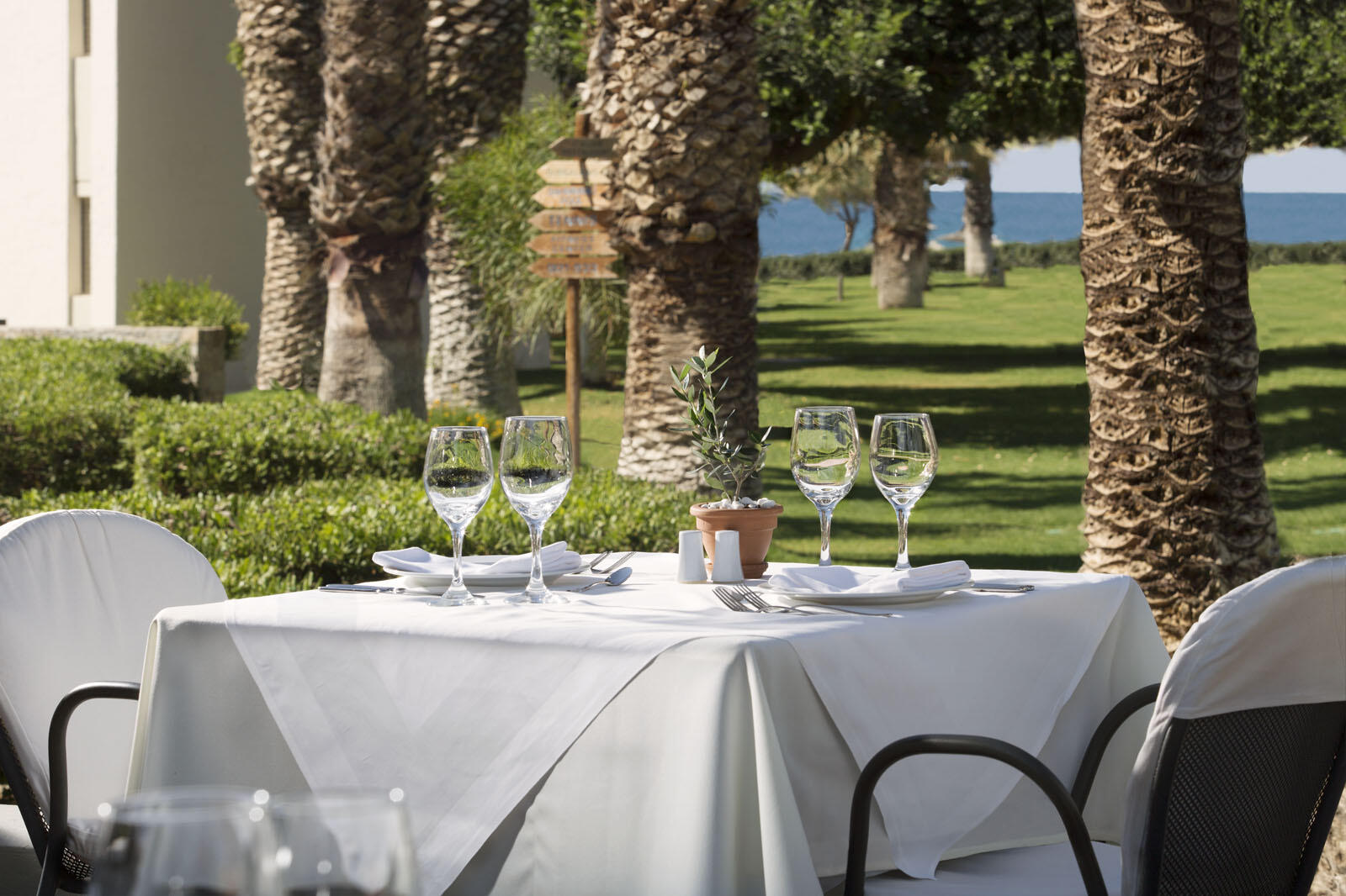 Piazza d'Italia Restaurant at Agapi Beach Resort in Crete