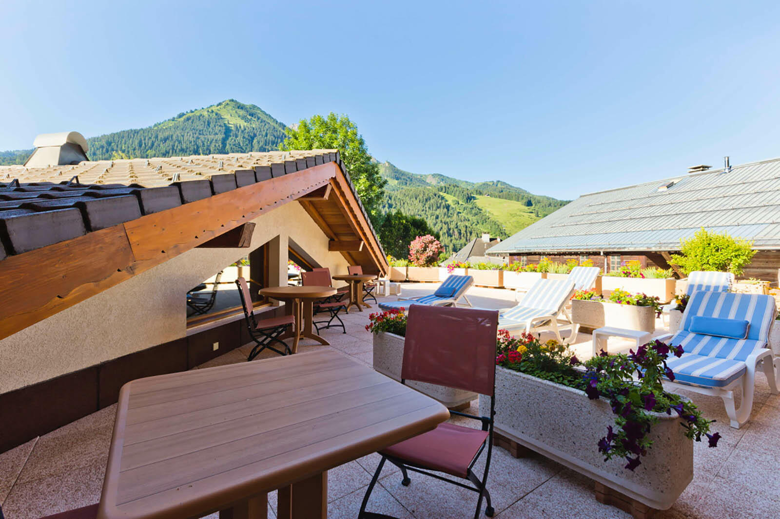 Terrace with Mountain Views near Hotel Les Gentianettes, The Ori