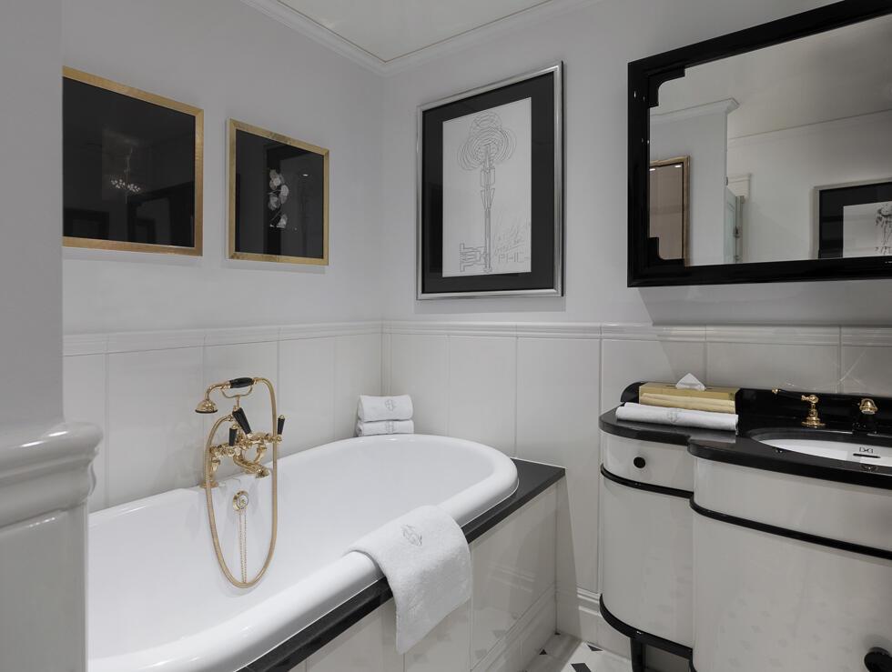 Bathroom at Patrick Hellman Schlosshotel