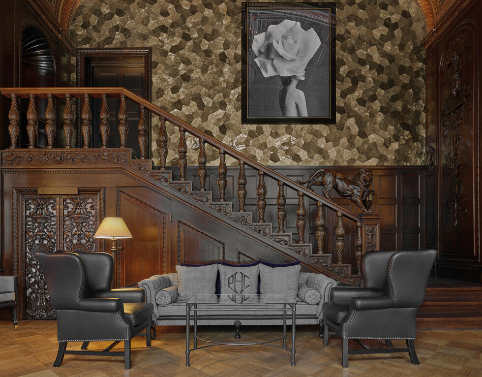 Lobby with Staircase - Patrick Hellman Schlosshotel