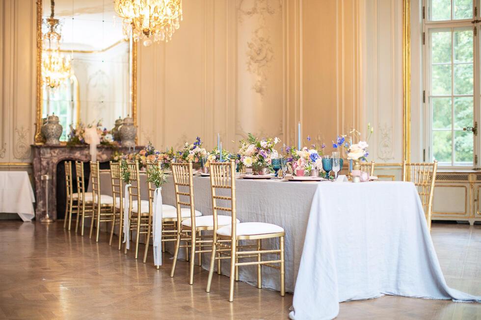 Musikzimmer Wedding set up  - Patrick Hellman Schlosshotel
