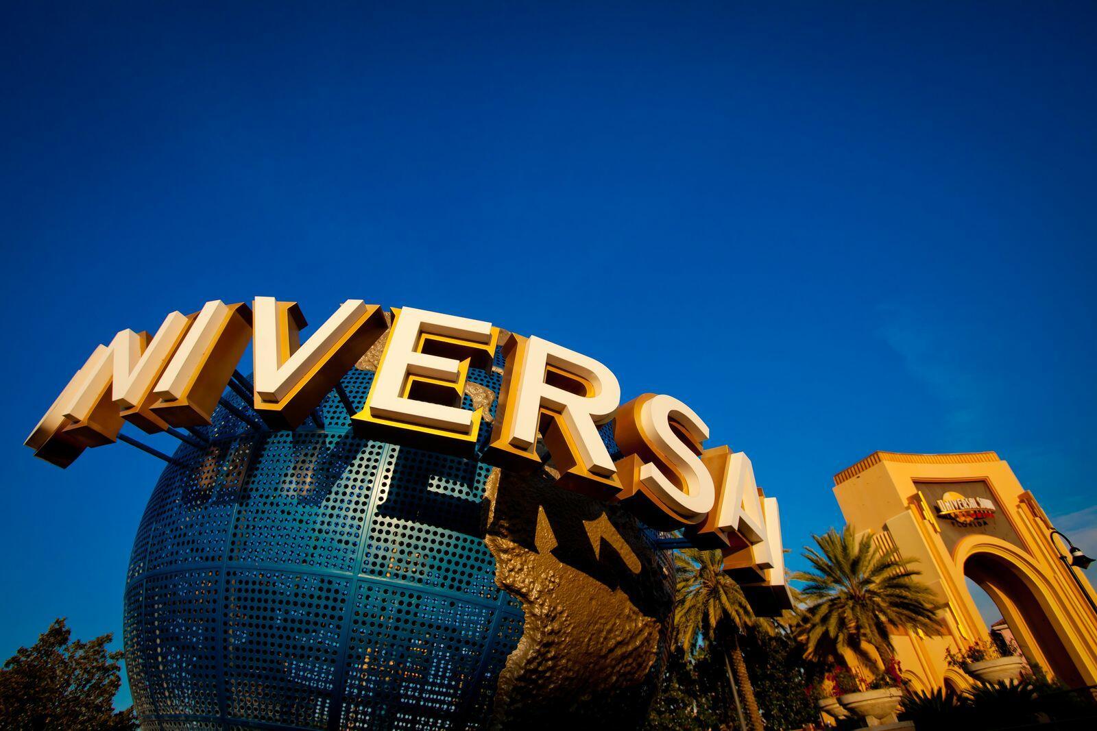 Giant globe outside of entrance to Universal Studios Florida.