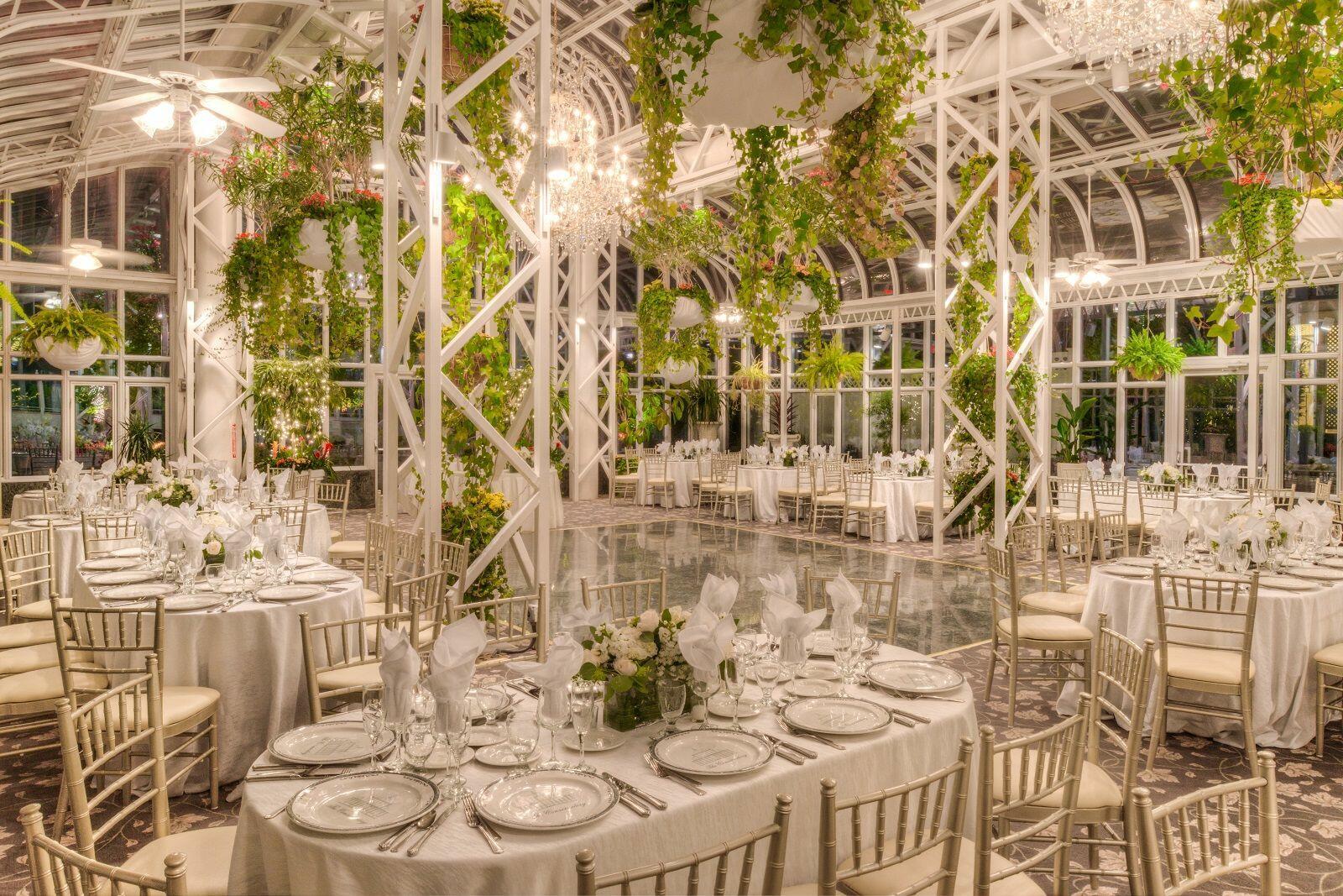Decadent outdoor wedding venue