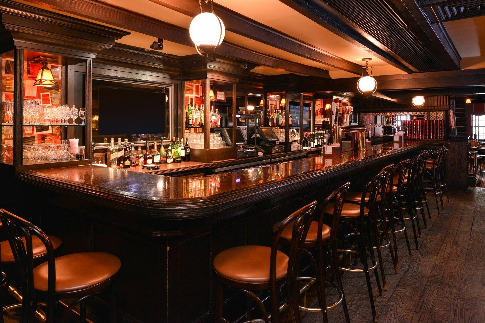 Victorian hotel bar