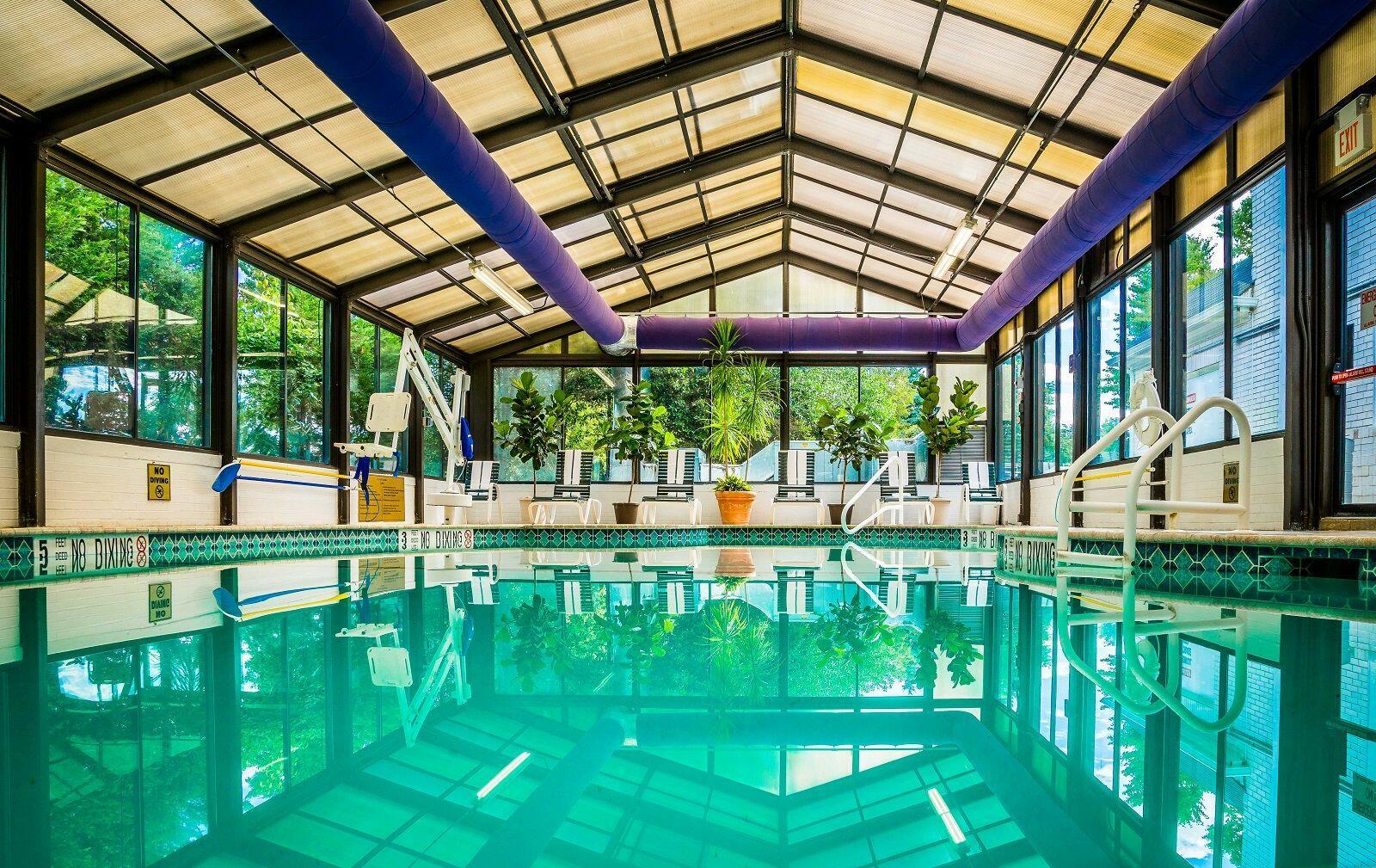 Indoor pool and jacuzzi