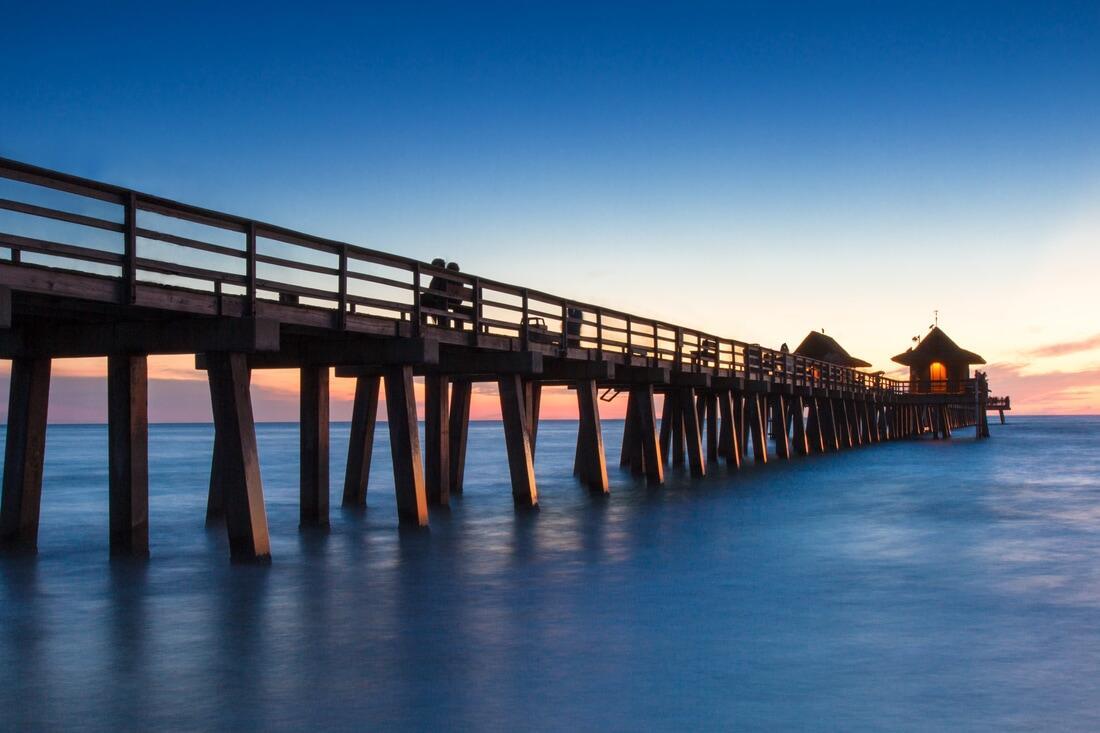 Pier at dusk.