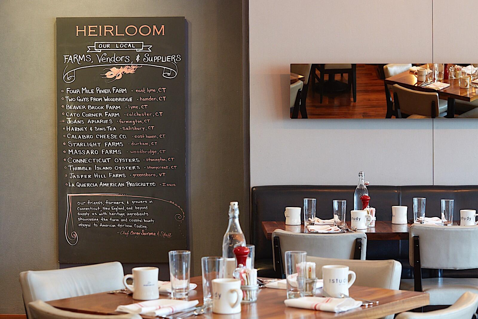 Heirloom Dining Room with Board