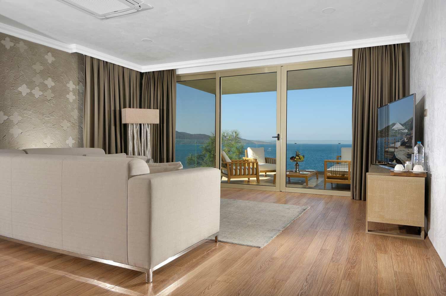 Grand Suite at Sarpedor Boutique Beach Hotel in Bodrum, Turkey