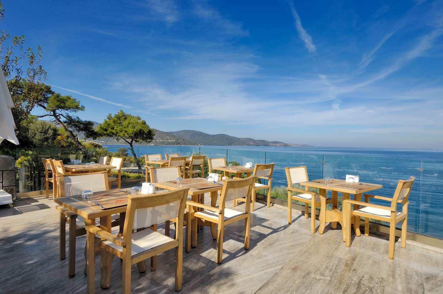 Restaurant at Sarpedor Boutique Beach Hotel in Bodrum, Turkey