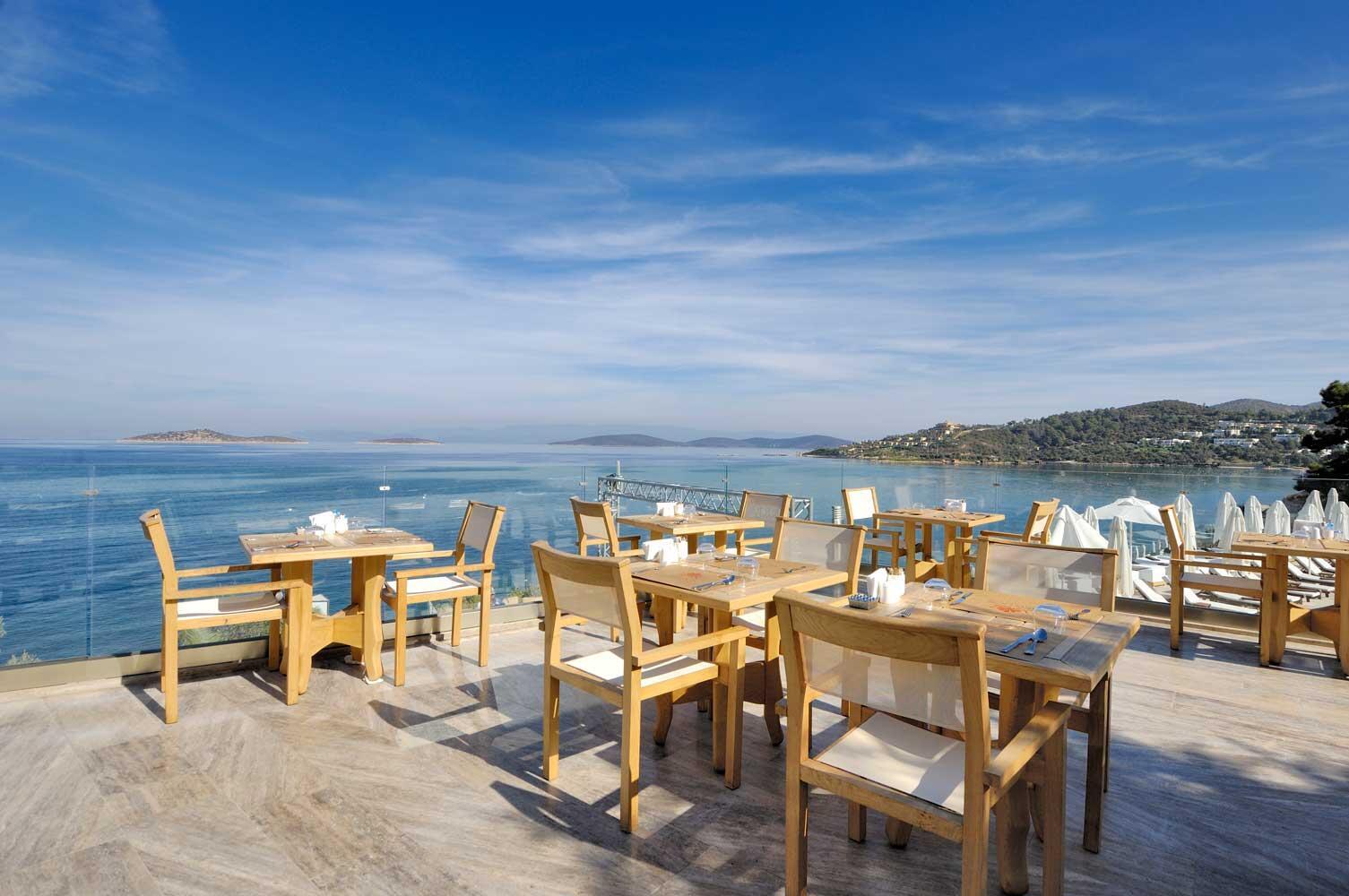 Dining at Sarpedor Boutique Beach Hotel in Bodrum, Turkey