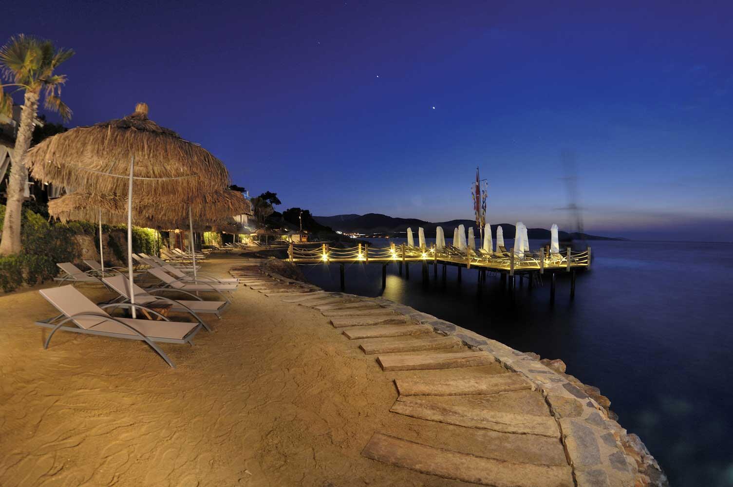Beach near Sarpedor Boutique Beach Hotel in Bodrum, Turkey