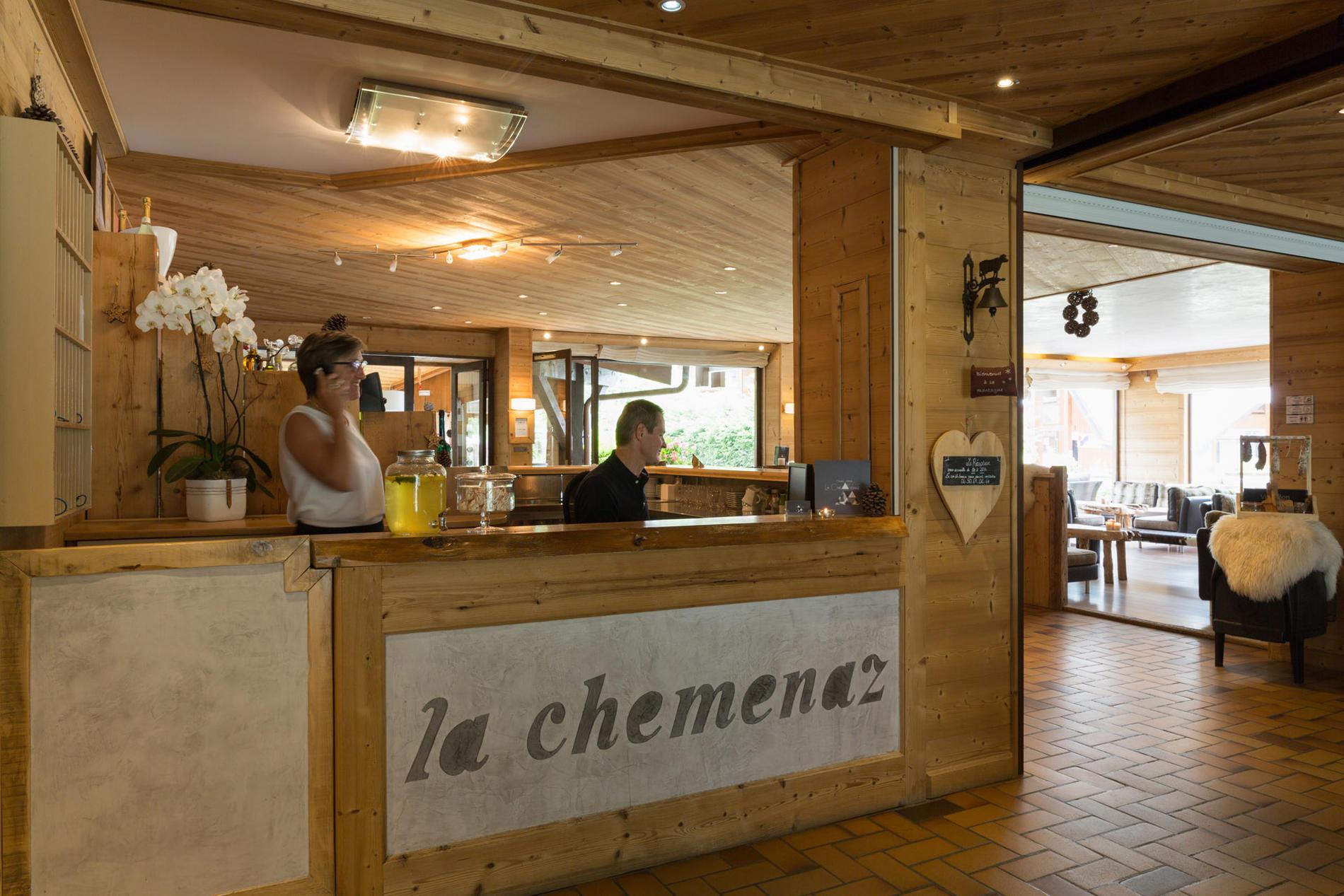 Reception at Chalet Hôtel La Chemenaz in Les Contamines-Montjoie