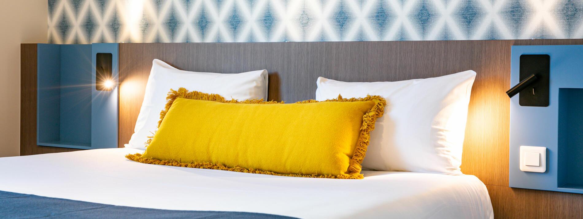 Chambre double twin grand lit lits séparés calme quiétude sommei