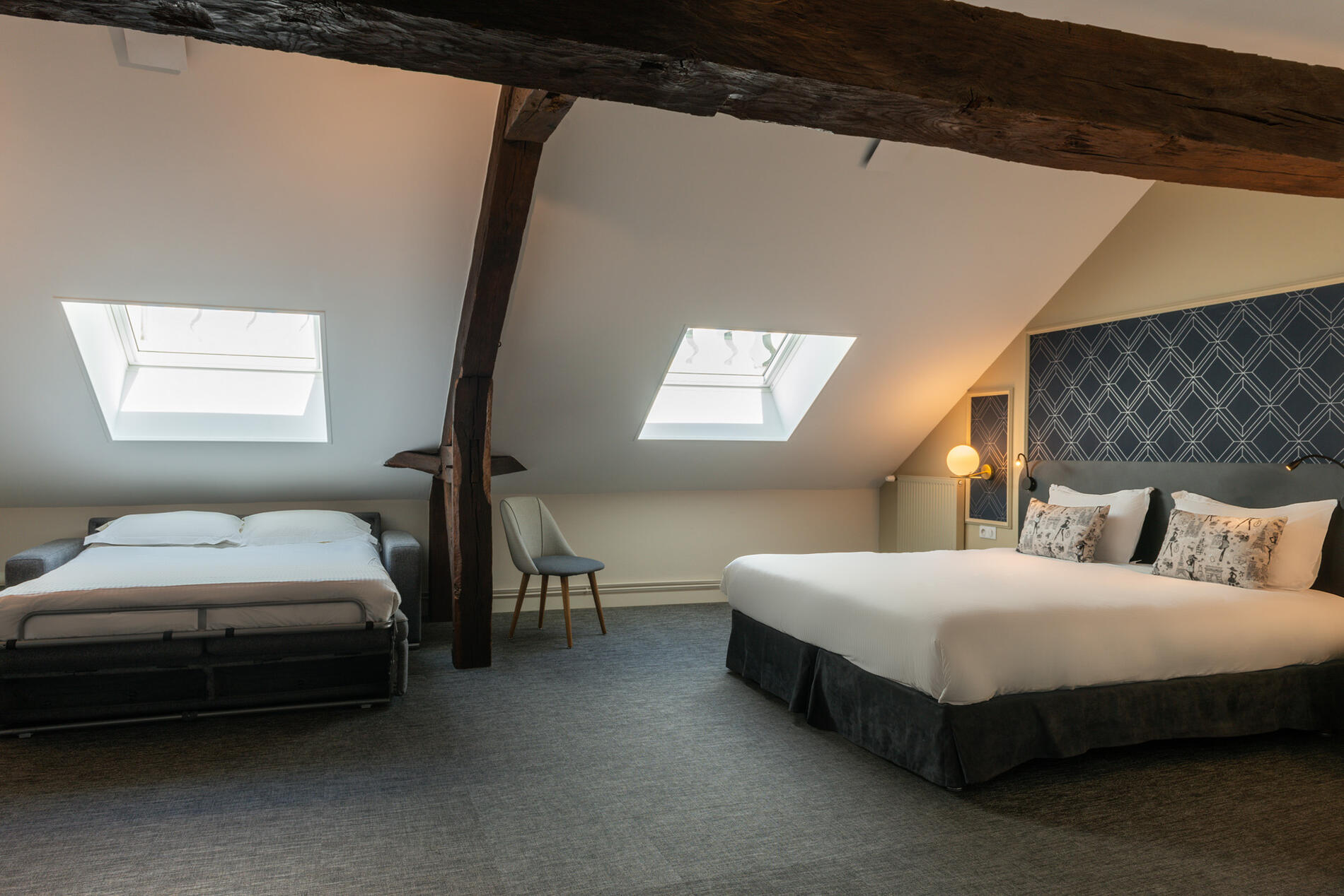 Family Room at Hotel Anne d'Anjou in Saumur, France