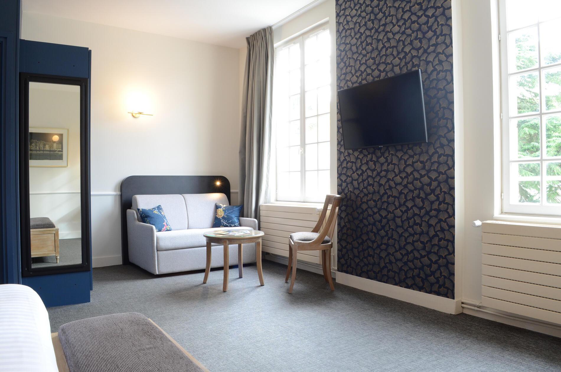 Prestige Chateau Room at Hotel Anne d'Anjou in Saumur, France